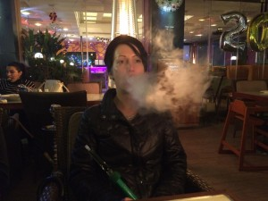 149 - Enjoying hookah in Kuwait City in Al Bida`, Al 'Āşimah, Kuwait.