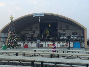 201 - At soundcheck. Tonight's office - Camp Buehring Kuwait