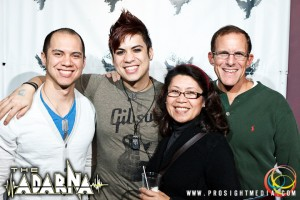 William with his family at The Adarna's CD Release Show 2012