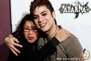 William and his mother at The Adarna's CD Release Show 2012