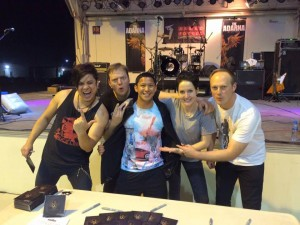 429 - Flight line represent! Meet and greet after show in Bahrain
