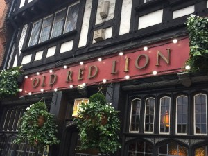 435 - 1st pub crawl stop — at The Old Red Lion.