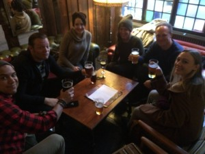 439 - Grabbing a drink with our fellow couchsurfers! — at The Old Red Lion, London