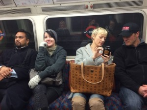 486 - Riding the tube in London