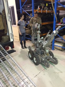 086 Andreka trying out the EOD robot —