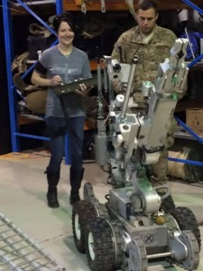 087 - She's a pro with the EOD robot —