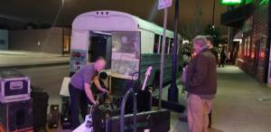 05277 - The glamorous side of touring — loading. Herman's Hideaway Denver CO