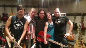 070 - The Adarna at the Gibson Showroom in NYC with the show hosts of Talking Metal