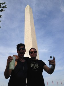 086 - Murdock and William at the National Monument in Washington DC