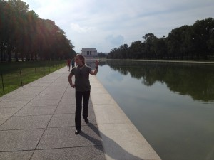 086 - Jeremiah at the the Reflecting Pool in  Washington DC
