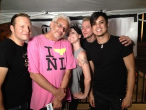 Interview with local TV station at the I AM Fest in New London, CT (2)