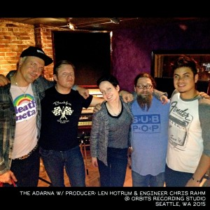 The Adarna with producer Len Hotrum and Engineer Chris Rahm working on How Perceptive