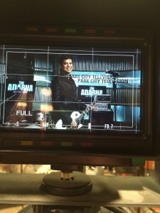 William on set at Park City TV in UT